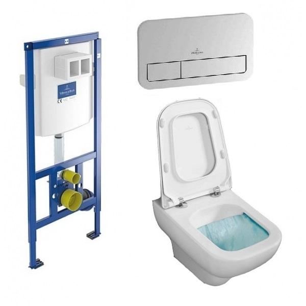 Комплект: инсталляция с подвесным унитазом 3 в 1 Villeroy&Boch 92249061 JOYCE Directslim