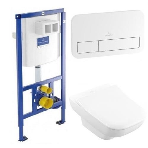 Комплект: инсталляция с подвесным унитазом 3 в 1 Villeroy&Boch 92249068 JOYCE Direct