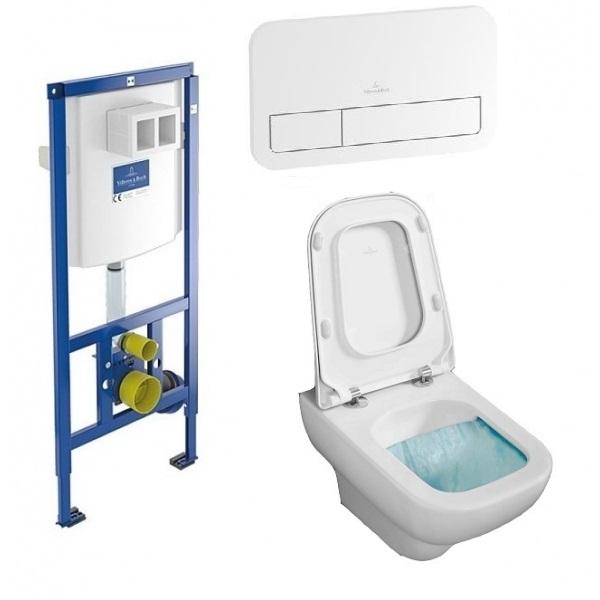 Комплект: инсталляция с подвесным унитазом 3 в 1 Villeroy&Boch 92249068 JOYCE Directslim