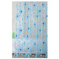 Шторка для ванной KERAMAC 180*200 Голубые цветы NS0045 (BF)