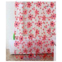 Шторка для ванной KERAMAC Красные цветы 180*200 NS0045 (RF)