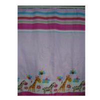 Шторка для ванной KERAMAC 180*180 Жираф и зебра