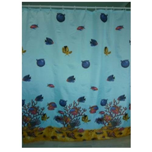 Шторка для ванной KERAMAC 180*180см Рыбки new
