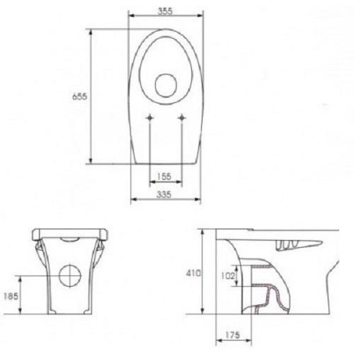 Чаша унитаза Volle TISA 13-13-052