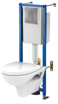 Комплект: подвесной унитаз с инсталляцией 5 в 1 Cersanit Target/Parva 00710