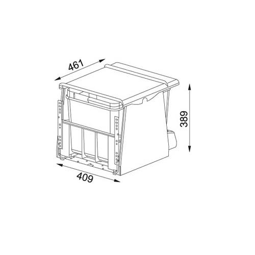 Система сортировки отходов FRANKE 700-45 Motion 121.0173.360