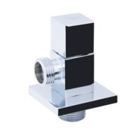 Кран угловой хромированный SD FORTE кран угловой (квадрат) с керам.буксой- SD Forte 1/2*3/4 (5100A)