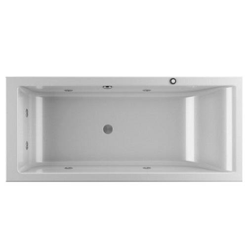 JACUZZI LAGOON ванна прямоугольная 180×80 см правосторонняя (гидромассаж, сифон, передняя и боковая панель)