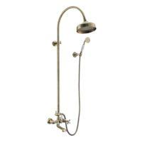 CUTHNA antiqua система душевая (двухвентильный смеситель для ванны, верхний и ручной душ), бронза T-10280 antiqua-n IMPRESE