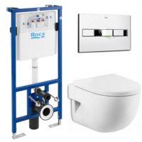 Комплект: MERIDIAN-N подвесной унитаз,сиденье твердое slow-closing, PRO инсталляция для унитаза, PRO кнопка