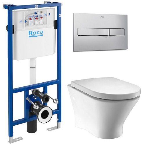 Комплект: NEXO Clean Rim унитаз подвесной, PRO инсталяция для унитаза, PRO кнопка, сиденье твердое slow-closing