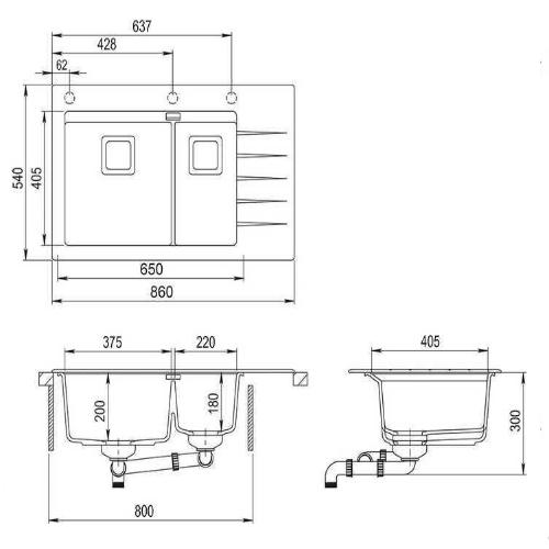 Кухонная мойка AquaSanita Delicia GQD150B-AW 111 silica