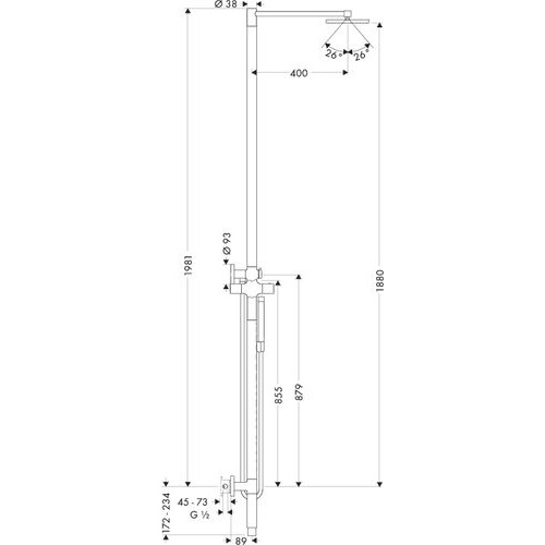 Душевая система Hansgrohe Axor Starck 10912000