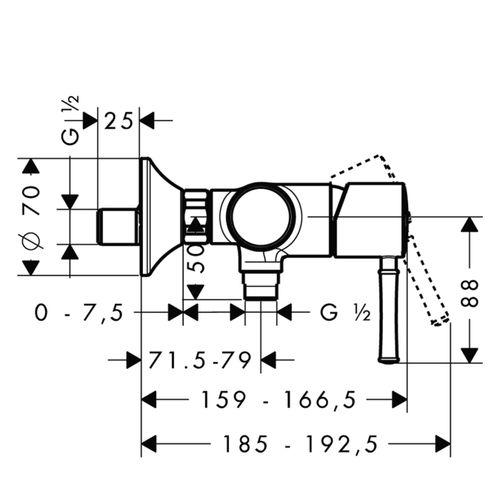 Смеситель для душа Hansgrohe Talis Classic 14161000