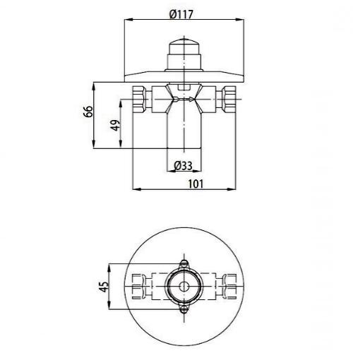 Порционный кран для душа KFA ARMATURA 182-000-00