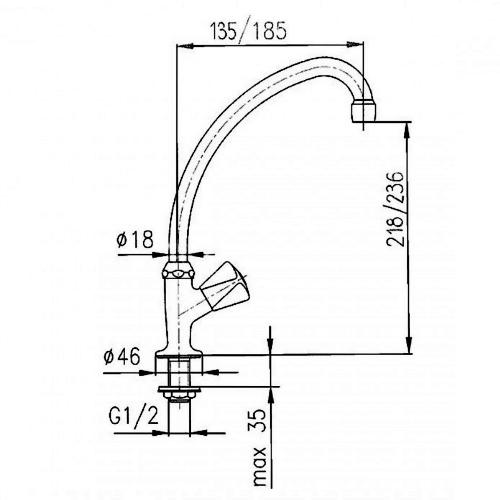 Кран водный KFA ARMATURA 211-110-00