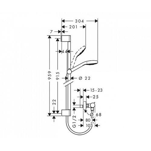 Душевой набор Hansgrohe Croma Select E26586400