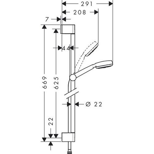 Душевой набор Hansgrohe Crometta 100 26652400