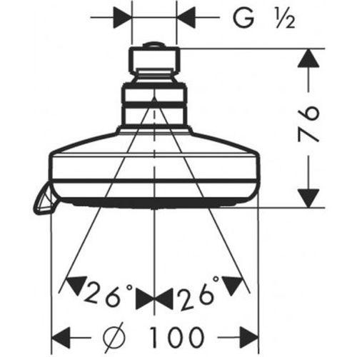 Верхний душ Hansgrohe Croma 100 Multi 27443000