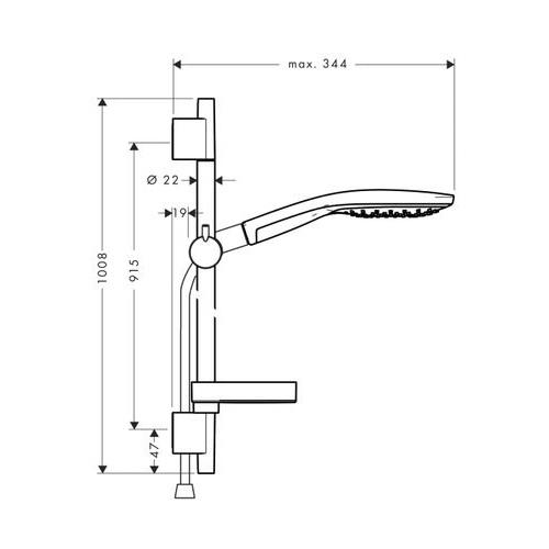 Душевой набор Hansgrohe Raindance Select S 15027803400