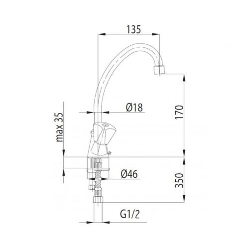 Смеситель для кухни KFA ARMATURA STANDART 303-414-00