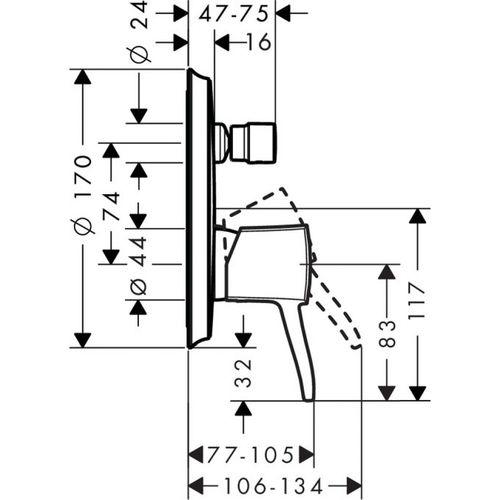 Внешняя часть смесителя Hansgrohe Metropol Classic 31345000