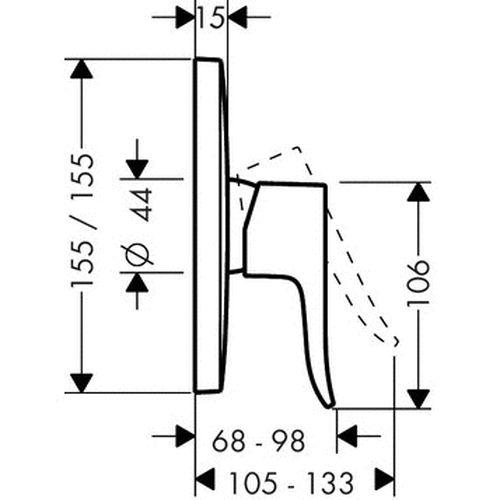 Внешняя часть смесителя Hansgrohe Metris 31456000