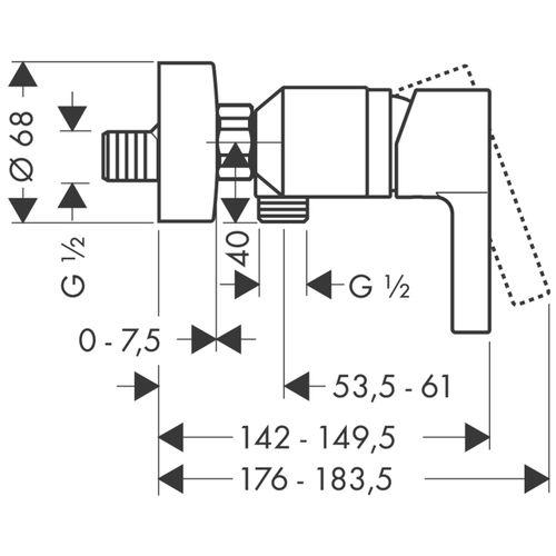 Смеситель для душа Hansgrohe Metris S 31660000