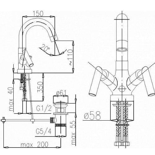 Смеситель для раковины Armatura Harmonic 342-324-00