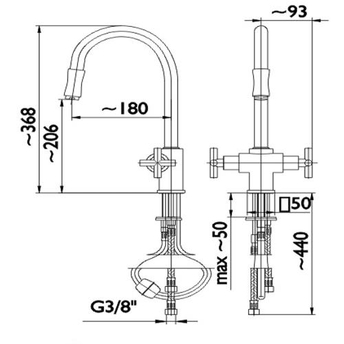 Смеситель для кухни Armatura Symetric 343-214-00