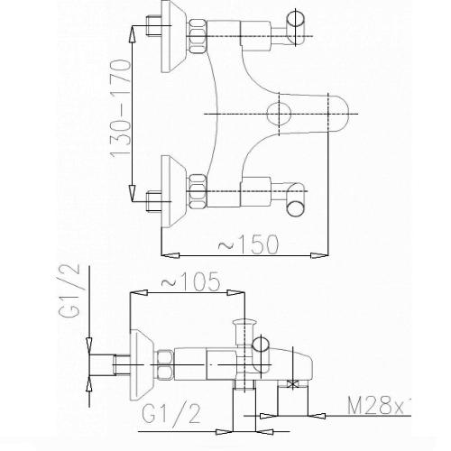 Смеситель для ванны Armatura Harmonic 344-020-00