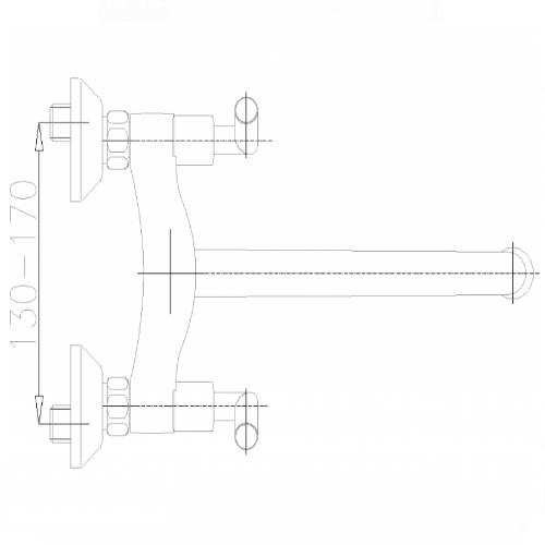 Смеситель для ванны KFA Harmonic Middle Class 348-720-00