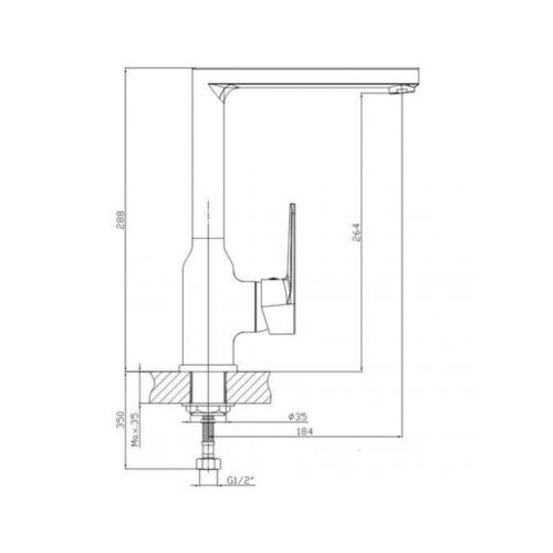 Смеситель для кухни KFA ARMATURA TOPAZ 4013-914-00