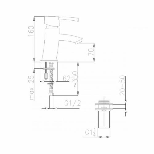 Смеситель для умывальника KFA ARMATURA DIAMENT 4102-814-00