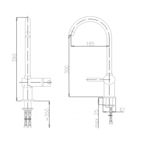 смеситель для кухни KFA ARMATURA DIAMENT 4103-914-00