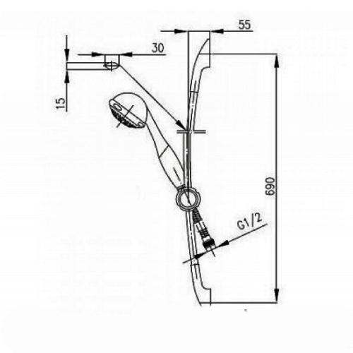 Набор смесителей для ванны KFA ARMATURA PIRYT 441-001-00