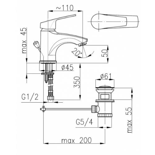 Смеситель для раковины Armatura Rodon 452-824-00