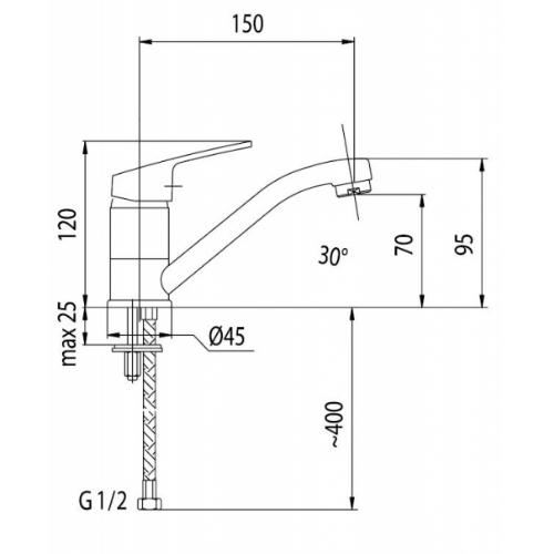 Смеситель для раковины Armatura Rodon 452-924-00
