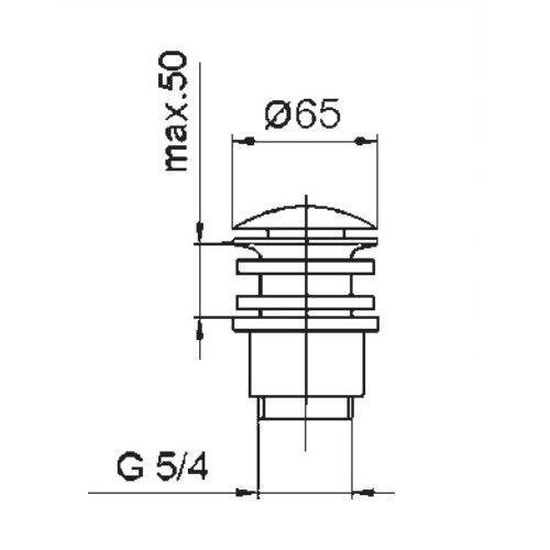 Донный клапан для раковины KFA ARMATURA 660-554-40