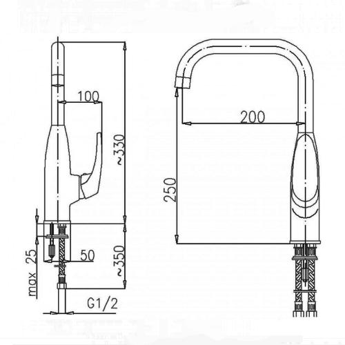 Кухонный смеситель KFA ARMATURA DELTA 6703-914-00