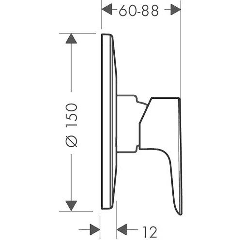 Внешняя часть смесителя Hansgrohe Talis E 71766000