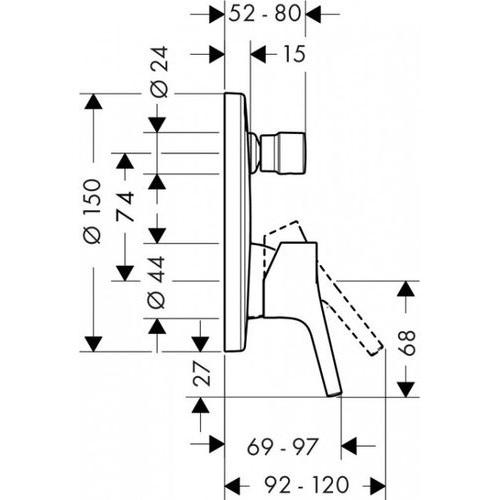 Внешняя часть Hansgrohe Talis S 72405000