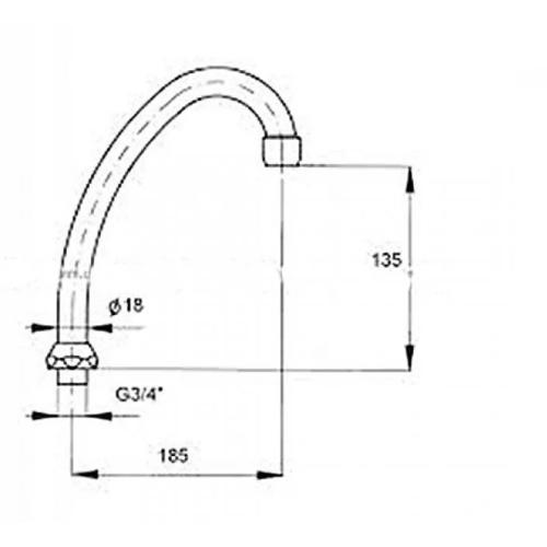 Излив смесителя KFA ARMATURA 831-256-00