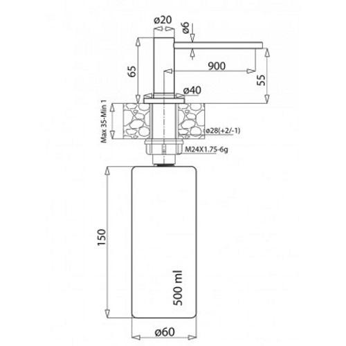 Дозатор жидкого мыла AquaSanita DS 601