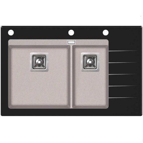 Кухонная мойка AquaSanita Delicia Plus GQD150B-AW 110 beige