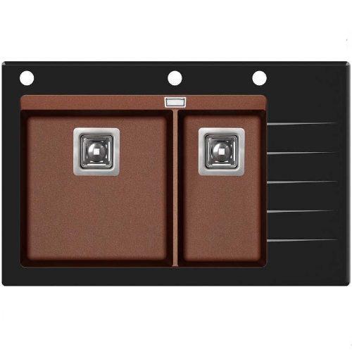 Кухонная мойка AquaSanita Delicia GQD150B-AW 501 copper