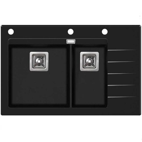 Кухонная мойка AquaSanita Delicia GQD150B-AW 601 black metallic