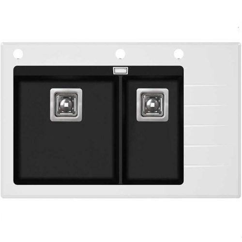 Кухонная мойка AquaSanita Delicia GQD150W-AW 601 black metallic