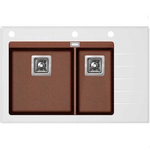 Кухонная мойка AquaSanita Delicia GQD150W-AW 501 copper