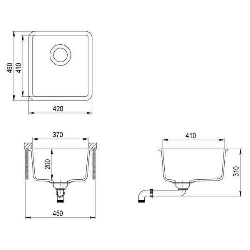 Кухонная мойка AquaSanita Arca SQA101W 110 beige